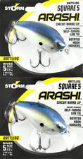 (Lot Of 2) Storm Arashi Rattling Square 5 Asqr05 5/8Oz Hot Blue Shad Bo4205