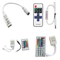 3528 5050 RGB 12V LED Strip Light 3/10/24/44 Keys IR Remote Controller