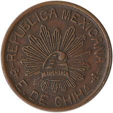 1914 Mexico - Chihuahua 5 Centavos Revolutionary Coin KM#613