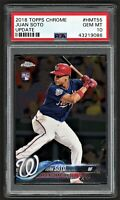 2018 TOPPS CHROME JUAN SOTO #HMT55 UPDATE NATIONALS ROOKIE RC PSA 10 GEM MINT