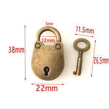 Chinese Style Old Vintage Padlock Notebook Lock Luggage Belt Padlock With Key