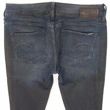 Ladies Womens G-Star 3301 CONTOUR SKINNY Stretch Blue Jeans W31 L34 UK Size 12
