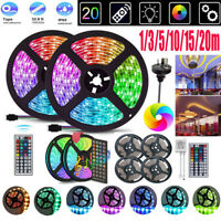 1-20m SMD 5050 RGB LED Strip Light Waterproof WiFi Controller Flexible Tape Lamp
