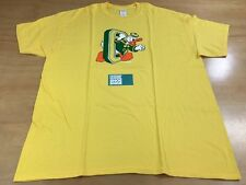 Oregon Ducks x Disney Donald Duck Collegiate O Short Sleeve Tee Shirt Yellow XL