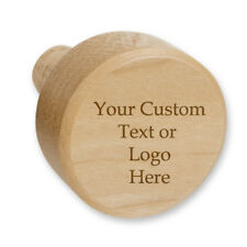 Custom Personalized Gift Genuine Maple Wood Novelty Wine Stopper with Cork GIFT
