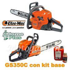 Motosega Oleo Mac GS350 C con kit accessori base: 1 olio catena + 1 olio mix