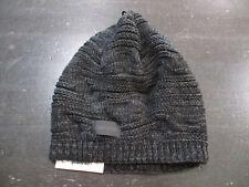 NEW Calvin Klein Beanie Hat Cap Black Gray Knit Skull Cap Winter Mens $42