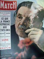 PARIS MATCH N° 0189 HERRIOT CONGRES RADICAL LURS DOMINICI CHAPLIN MORGAN 1952