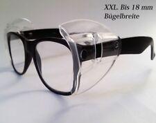 Seitenschutz XXL.für breite Brillenbügel universal  in transparent  NEU -1 Paar