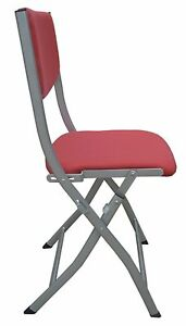 2/set Folding Chairs Meeting Steel Frame Fabric Padded Pad Seats indoor office