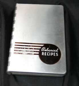 vtg Pillsbury Balanced Recipes METAL coverCookbook 1933 Depression Era recipes