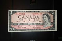 1954 Replacement $2 Dollar Bank of Canada Banknote *BB1996132 EF 40