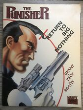The Punisher: Return to Big Nothing by Steve Grant , 1989 First Print
