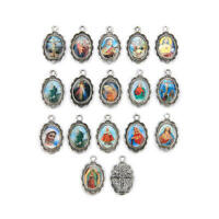 50Pcs Catholic Religious Faith Enamel Art Medals Charms Pendants Holy Collection