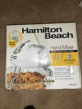 HAMILTON BEACH HAND MIXER WITH SNAP-ON CASE 6 SPEEDS