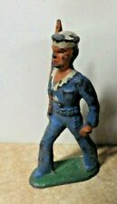VINTAGE ANTIQUE MANOIL BARCLAY LEAD TOY SOLDIER NAVY SOLDIER CARRYING RIFLE