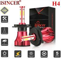 New CREE H4 4-Sides LED Headlight Kit 1800W 270000LM Hi-Lo Beam Bulb 6000K Car
