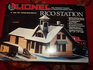 Lionel 6-2709 O Scale Rico Station Building Kit, Started but never finished