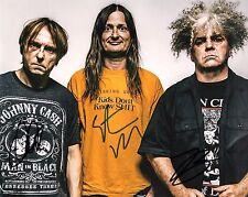 GFA Buzz Osborne x3 Band * THE MELVINS * Signed 8x10 Photo PROOF M3 COA
