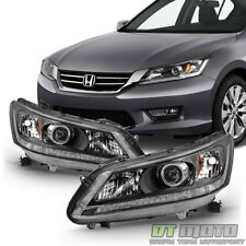 For 2013 2014 2015 Honda Accord Sedan Headlights Halogen Headlamps Left+Right