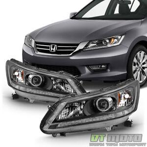 For 2013 2014 2015 Honda Accord Sedan Headlights Halogen Headlamps Left+Right