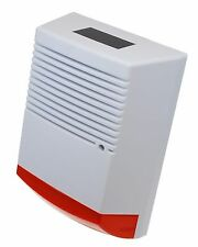 Large A4 sized Solar Powered Dummy Alarm Siren & Flashing LED's.
