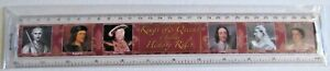 RULER 30cm PLASTIC KINGS AND QUEENS OF ENGLAND HISTORY PICTURES AND TIMELINE