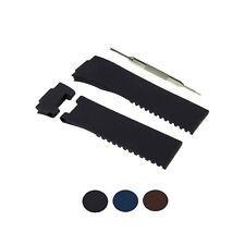 WBco 25mm Fits For Ulysse Nardin Maxi Marine / Diver Rubber Watch Band w/ Tool