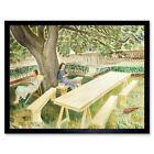Eric Ravilious Two Women A Garden 12X16 Inch Framed Art Print