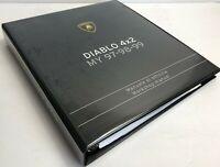 Lamborghini COD 901325748 Diablo 4x2 My 97-98-99 Workshop Manual