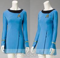 Classic Star Trek Insurrection FemaleDutyTOS BlueDressWomen CosplayUniform