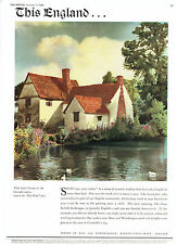 Willy Lott's Cottage Flatford East Bergholt 1949 Bass Beer Advertisement Ad 8909