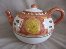 VIETRI CAMPAGNA COW TEAPOT IN VERY GOOD CONDITION