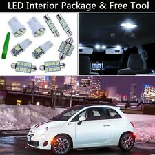 3PCS Xenon White LED Interior Car Lights Package kit Fit 2012-2015 Fiat 500 J1
