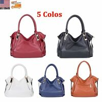 Women Ladies PU Leather Handbag Shoulder Hobo Bag Messenger Satchel Tote Purse