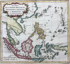 SE Asia 1778 Indonesia Philippines Papua Thailand China de Vaugondy antique map