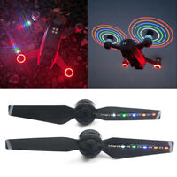 STARTRC 1 Pair LED Flash Propeller Blades Prop Rechargeable for DJI Spark Drone