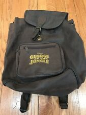 🔥 Disney George Of The Jungle Brown Duffle Backpack Bag • Rare