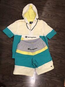 Champion Sportswear Windbreaker 2 Piece Set (1/4 Zip Top And Shorts) Men's Large