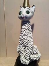 Wonderful Vintage 1950's Italian MidCentury Ceramic Spaghetti Pottery Cat Lamp