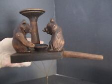 ARTICULATED BLACK FOREST BEARS FEEDING WITH A SPOON FROM A BOWL
