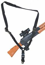 Every Day Carry Tactical Adjustable Single Point Nylon Weapon Gun Sling - Black