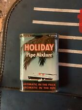 Vintage HOLIDAY TOBACCO POCKET TIN  UNOPENED INTER PACKAGE DISPLAYED ONLY