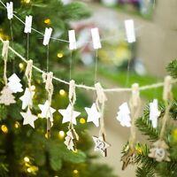 Christmas DIY Calendar Pendants Wood Calendar Hanging Card Christmas Decor N7