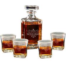 Personalised Whiskey Decanter Glasses Set Anniversary Birthday Gift