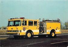Glenbrook Illinois~Yellow Pierce Arrow Pumper Firetruck~1950s Postcard