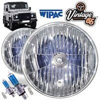 "Land Rover Defender 7"" Halogen Crystal Xenon SVX Headlamps Headlight RHD WIPAC"