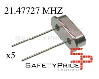 5x OSCILADOR CRISTAL 21.47727MHZ 21.47MHZ HC-49S Crystal Oscillator SP