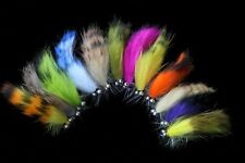12 Colors Assorted Zonker Streamers Trout Fly Fishing Flies Lures Fly Set-Size#6