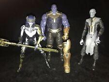 Marvel Legends THANOS & Children PROXIMA MIDNIGHT EBONY MAW Black Order Figures